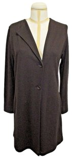 Other Oska Brown Wool Long One Lapel Jacket With Matching Detailed Pants -
