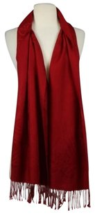 Patrick Francis Womens Red Textured Scarf Os Wool Casual