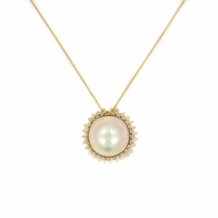 Other Pearl Pendant In 14k Yellow Gold Cultured Mabe 15mm 7.7 Grams