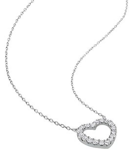 Other Sterling Silver 12 Ct Diamond Tw Heart Love Pendant Necklace Gh I2i3
