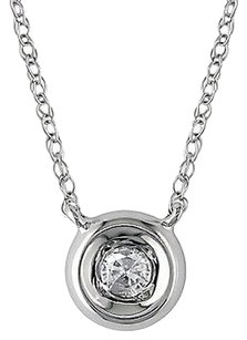 Other 10k White Gold 110 Ct Diamond Tw Fashion Pendant With Chain Gh I2i3