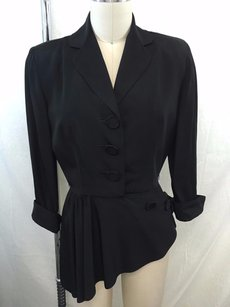 Bullocks Wilshire Vintage 40s Black Jacket