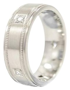 Platinum Band With 0.25ct Diamond Stones G Vvs Weighs 6.1 Grams