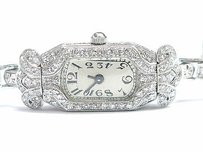 Other Platinum Vintage Diamond Watch Single Cuts 1900s 1.20ct Lrm