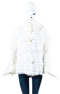 Fur Button Front Poncho Sweater