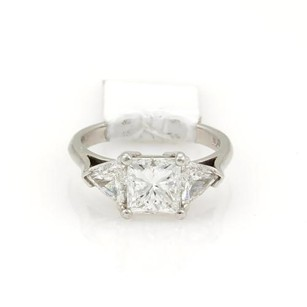 Princess Cut 2.01ct Diamond Solitaire Platinum Ring G-vvs2 Wgia Certificate