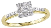 Other 10k Yellow Gold 15 Ct Tdw Diamond Halo Engagement Ring G-h I2-i3