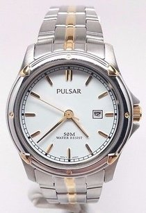 Pulsar Womens Stainless Steel Silver Watch Pxt816p Broken Sold As Is