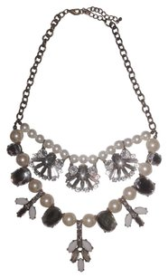 Rhinestone Pearl Statement Fashion Layer Chunky Chain Necklace