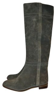 Tila March Suede Pull On Gray Boots