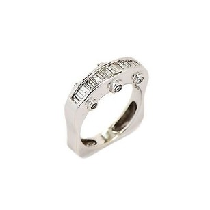 Other Ring 14k White Gold Channel Bezel Set 0.98 Ct Diamond G Vs1 6.3 Grams