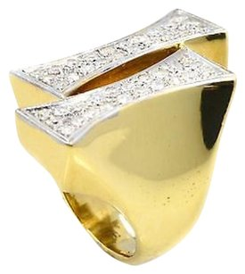 Other Ring 18k Yellow Gold 0.89 Ct Diamond Accents Mens