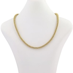 Rope Chain Necklace 34 - 14k Yellow Gold Lobster Claw Clasp Womens