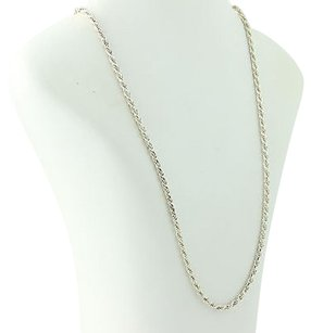 Rope Chain Necklace - Sterling Silver 925 Italian 27.75 Lobster Clasp Unisex