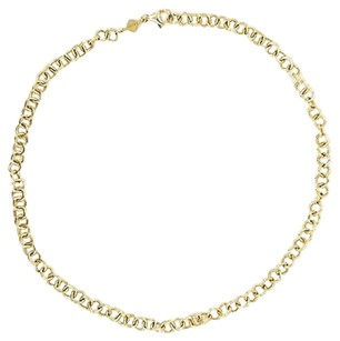 Rosato Necklace Made In Italy 14k Yellow Gold Chain Link 8.8 Grams Inches