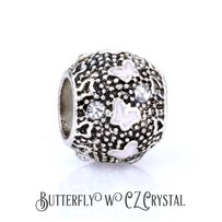 Other Rose Butterfly with CZ Crystal | Charm