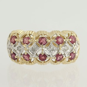 Other Ruby Diamond Ring - 14k Yellow White Gold July Birthstone 1.16ctw