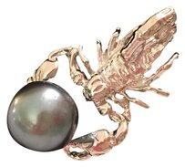 Other SCORPION Tahitian pearl STERLING SILVER 925 Pin Brooch.