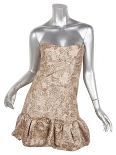 Other Dg By Dolce Gabbana Womens Metallic Jacquard Strapless 360 Dress