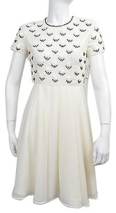 Other short dress Ivory Fcuk French Connection Womens White Sequins Shift Size on Tradesy