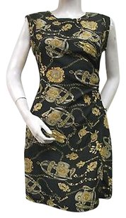 short dress Multi-Color Chase Black Gold Equestrian on Tradesy