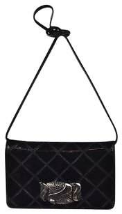 Other By Varon Womens Quilted Patent Handbag Shoulder Bag