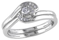 Other Sterling Silver 17 Ct Diamond Tw Bridal Set Ring Gh I2-i3