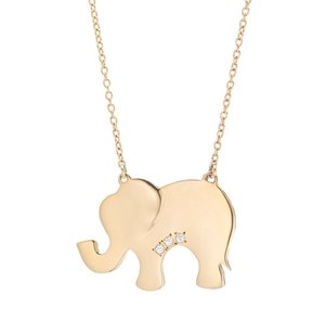 Gold Elephant With Diamond