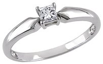 10k White Gold 15 Ct Princess Diamond Tw Solitaire Ring I3