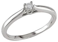 Other Sterling Silver 110 Ct Diamond Tw Solitaire Engagement Ring 925 Gh I2i3