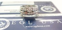 Platinum Round Cut Diamond Wedding Set 1.45ct Egl Usa