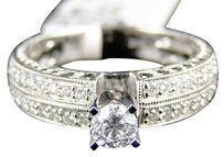 14k Womens White Gold Diamond Round Cut Solitaire Engagement Wedding Ring Band