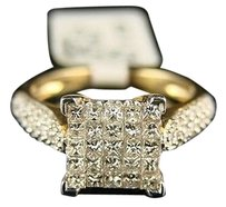 14k Ladies Princess Bridal Engagement Diamond Ring Set