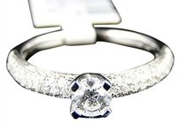 14k Womens White Gold Diamond Round Cut Engagement Wedding Ring Band Bridal