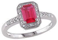 Other Sterling Silver Diamond And 1.59 Ct Tgw Ruby Fashion Ring I3