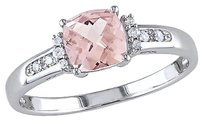 Other 10k White Gold Diamond And 1 Ct Tgw Morganite Fashion Ring Gh I2i3