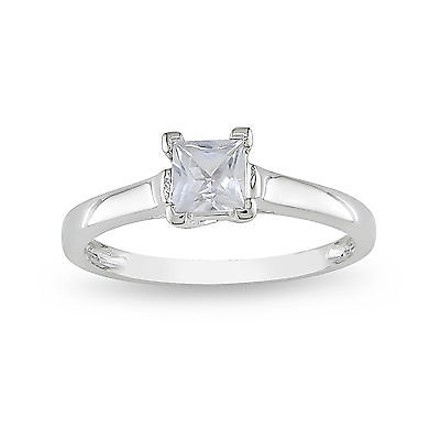 Other 10k White Gold 0.59 Ct Tgw White Sapphire Solitaire Ring
