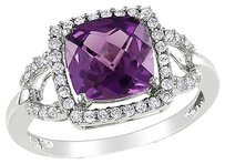 10k White Gold 15 Ct Diamond And 2 45 Ct Alexandrite Fashion Ring Gh I2i3