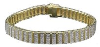 Statement,Diamond,Bracelet,Mens,Yellow,Gold,Finish,7.25,Pave,Round,Cut,2.50,Ct.