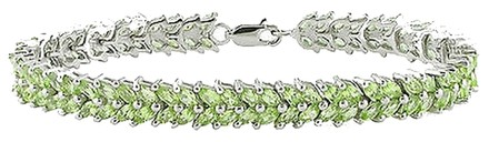 Other Sterling Silver Peridot Tennis Bracelet 7 8.96 Ct