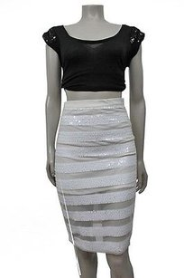 Other Three Of Something Queen Of Sequin Pencil Skirt WHITE