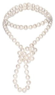 Other 36 10-11 Mm Freshwater White Off-round Pearl Necklace With 9 Mm Silver Clasp