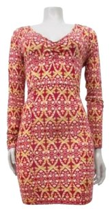 Other Intimately People Strapped Up Print Long Sleeve Dress