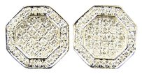 14k Mensladies Hexagon Diamond Stud Earrings 10 Mm