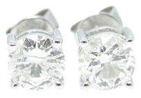 Other 1 Ct Round Cut Solitaire Diamond Studs Earrings