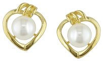 10k Yellow Gold 5-5.5mm Pearl Stud Earrings