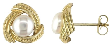 Other 10k Yellow Gold 5-5.5mm Pearl Stud Earrings