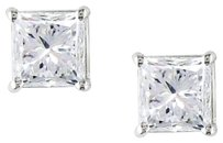 14k White Gold Diamond Solitaire Stud Earrings 1 Cttw I Si