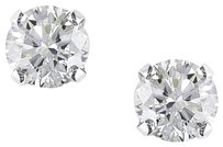 14k White Gold Diamond Solitaire Stud Earrings 1.5 Cttw G-h I1-i2