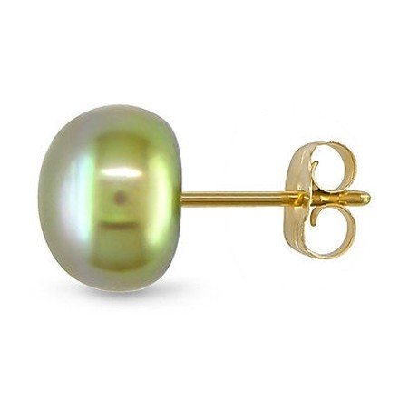 Other 10k Yellow Gold 7-7.5mm Freshwater Cultured Pearl Stud Earrings